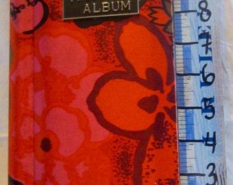 70s, Vintage, Photo Album, Insert, 12x5x1.5, Floral, Orange, Pink, Brown, Fold Out Pages