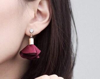 Rose Petal Dangling Earring