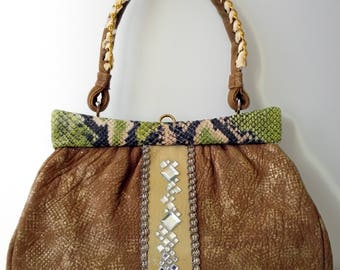 Vintage handbag avignon brown.