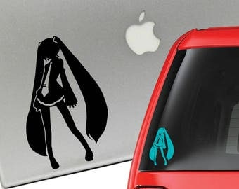 Hatsune Miku Anime Vocaloid Vinyl Decal for Laptop or Car