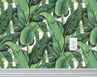 Banana Leaves Self-adhesive Removable Wallpaper