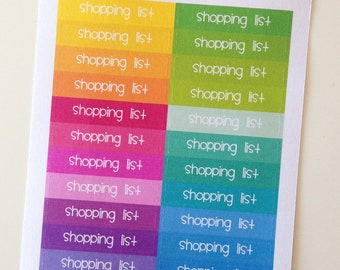 Planner Stickers - Header Stickers Shopping List