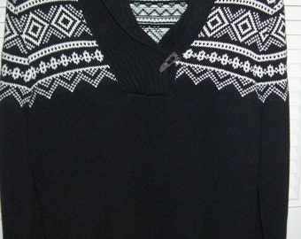 Vintage Ralph Lauren Black Cowel Collar STUNNING Pullover Sweater Size Medium