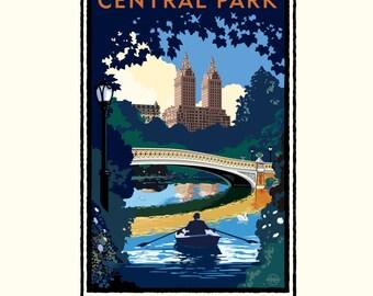 Landmark NY | Central Park Bridge Day by Mark Herman
