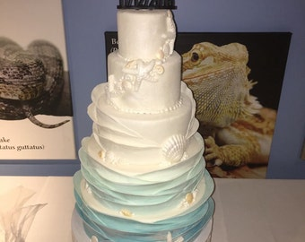 Under the Sea Faux Wedding Cake