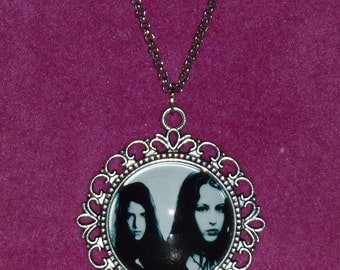 Ginger Snaps Inspired Silver Cameo Necklace