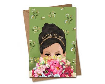 Bridal Shower Card. Bride to be.