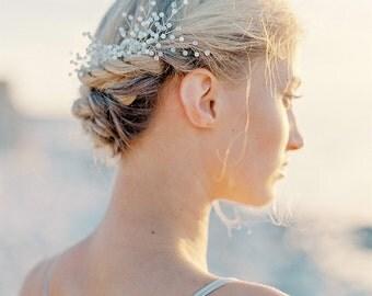 """Swarovski bridal comb- Crystal comb- Bridal headpiece- Crystal headpiece- Swarovski headpiece-Swarovski comb- TWRA """"Erica"""" Hair comb"""