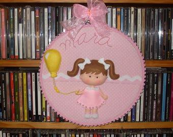 Nursery hoop art