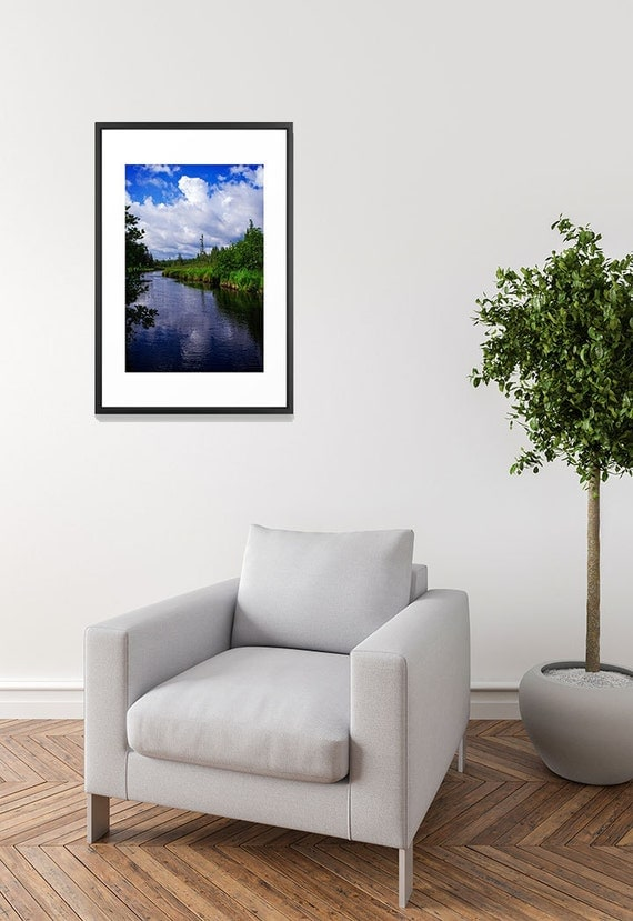 Canvas Art Prints, Large Wall Art Canvas, Blue Nature Photography Print, Northwoods Images, Woodland Prints for Wall Landscape Art on Canvas