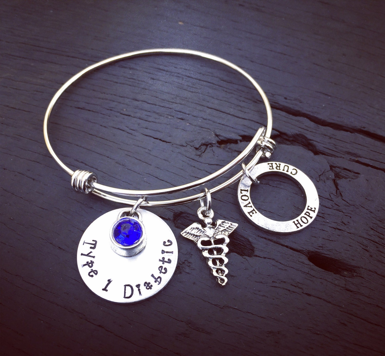 Medic Alert Necklace: Diabetic Bracelet Medical Alert Jewelry Diabetes Jewelry