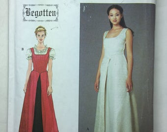 Simplcity Begotten 8985 Renaissance Gown Pattern Size Junior and Misses' Dress and Blouse 6 - 14 Bust 29 to 35