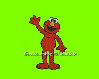 Elmo Machine Embroidery Design - 6 Sizes - INSTANT DOWNLOAD