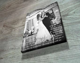 Wedding Anniversary/ Gift for Brother/Sister in Law/ First Christmas Husband and Wife/ First dance lyrics/ Custom Canvas