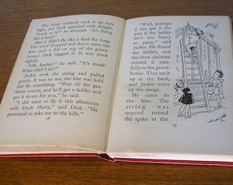Vintage Enid Blyton The Adventures of Mr Pink-Whistle 1969 illustrated red hardback book children's early years fiction 101