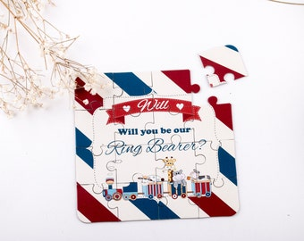 Will You Be Our Ring Bearer Puzzle Invitation Page Boy Puzzle Cars and Trucks Junior Groomsmen Invitation