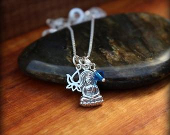 Buddha necklace, Meditation jewelry, Buddhist necklace