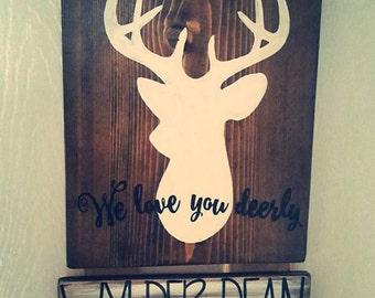 We Love You Deerly Baby Door Hanger