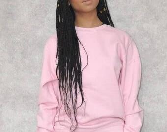 Pink Crew Neck Jumper Sweatshirt