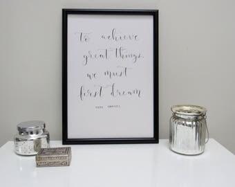 Handwritten Coco Chanel quote, A4