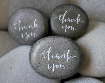 Set of 3 Handwritten Thank You Stones