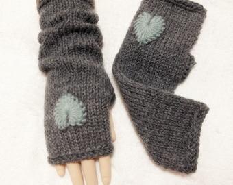 Angola Mohair Wool Fingerless Gloves