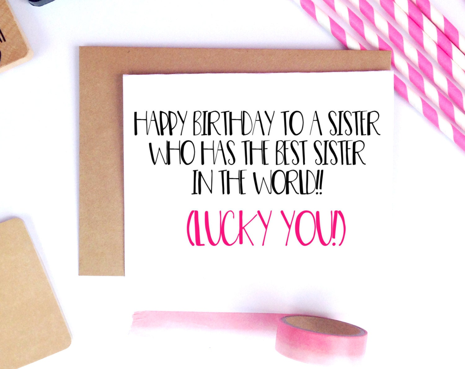 funny sister birthday card for her sister birthday gift