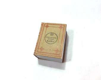 Dollhouse Miniature Book Dictionary with Pages Antique Vintage 1:12 Scale Diorama Shadow Box Supply Accessory - 303