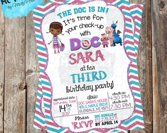 Doc McStuffins Printable Birthday Invitation - YOU PRINT