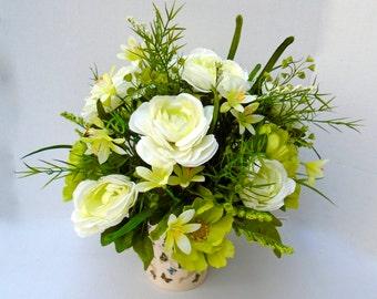 Silk Floral Table Arrangement,Centerpiece, Silk Floral, Spring Floral Arrangement, Summer Floral, Home Decor