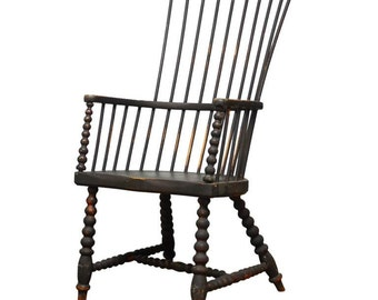 18th Century American High Back Windsor Chair