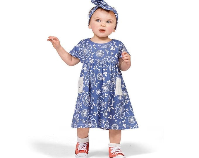 SUMMER SALE! Baby Girl Dress, Baby Girl Outfit, Baby Girl Blue Dress, Baby 4th July, Baby Girl Summer Dress, Baby Girl Clothes DR73PBDIO0000
