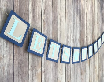 Puppy birthday Pawty Banner - Lets Pawty banner - puppy dog birthday party - doggy party decor