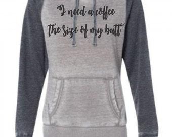 Coffee Lover Hoodie, Tired Mom Hoodie, Funny Sweatshirt, Custom Hoodie, Coffee Sweatshirt, Mom Sweatshirt, Get It Sweatshirt