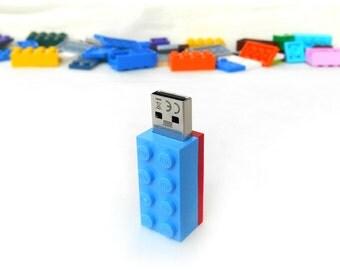 Lego usb flash drive 32GB USB, Colorful usb, Gift for him, Gift for her, Brick usb, Lego® original usb Brick usb, Lego 2x4 Brick, Lego brick