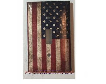 US USA United State Flag Toggle, Rocker Light Switch & Power Duplex Outlet Cover Plate home decor