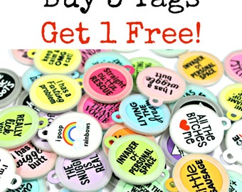 Buy 3 Pet ID Dog Collar Tags, Get 1 Tag Free -- Read Through FULL Listing for Instructions