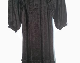 Vintage 80s Dress velvet black 80s Dress velvet black VIntage 80s DRESS velvet black m trending VELVET dress Medium