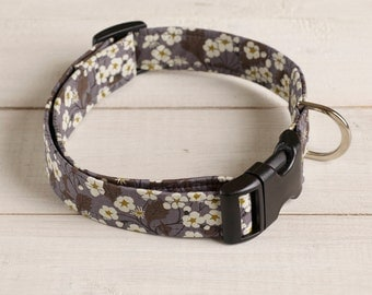 Willow Liberty print fabric dog collar