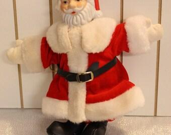 Vintage Santa Clause Porcelain Head Christmas Ornament