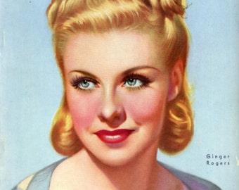Cine-Mundial Magazine  1939  Gorgeous Ginger Rogers Cover  Hollywood  Betty Grable Ann Sheridan Sonja Henie Carole Lombard  Blondell  Atlas