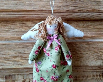 Small Angel doll dress with flowers