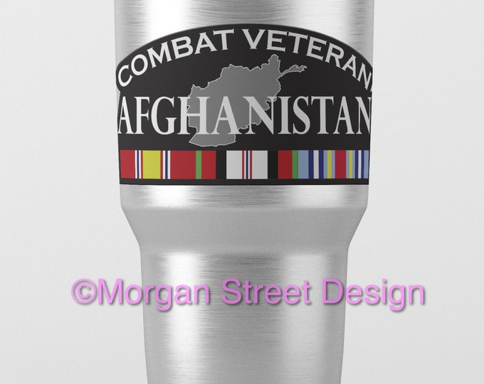 Yeti Afghanistan Veteran Die Cut Vinyl Decal Sticker