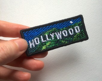 Hollywood Embroidered Patch