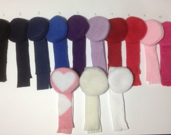 Beret with matching scarf ideal for either Barbie or Skipper