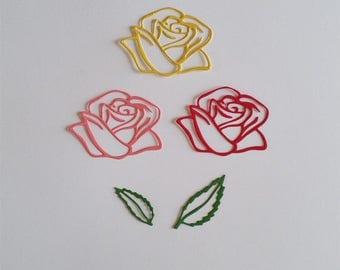 Rose with Leaves Die Cuts