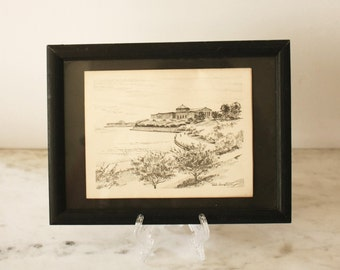 Framed Pencil Drawing landscape