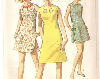 VINTAGE Simplicity 7136 - Women's Clothes - Junior or Misses Dress, Beach Dress or Shorts, Size 12