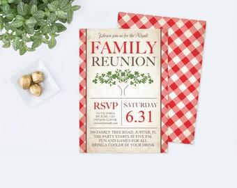 Family reunion etsy printable family reunion invitation editable pdf template family tree party invite bbq stopboris Images