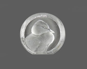 Mid Century Mats Jonasson Duck Full Lead Crystal Sweden Bird Miniature Made in Sweden